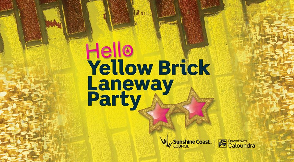 yellow brick laneway party banner